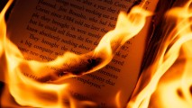 Book on Fire HD Wallpaper