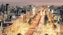 Buenos Aires Night Scene HD Wallpaper