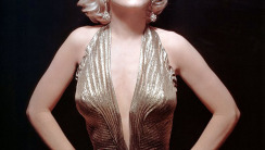 Mayralyn Monroe Gold Dress HD Wallpaper