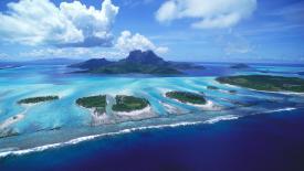 Multiple Islands Ocean Edge HD Wallpaper