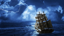 Ship in Storm HD Wallpaper