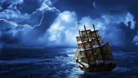 Ship in Storm HD Wallpaper