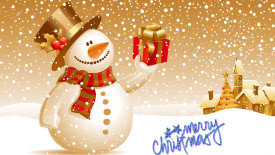 Christmas Snowman HD Wallpaper