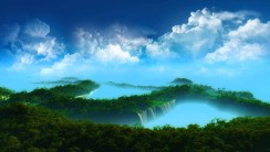 Treetops in the Clouds HD Wallpaper