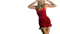 WWE Wrestling Stacey Keibler Christmas Santa HD Wallpaper