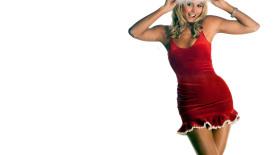 WWE Wrestling Stacey Keibler Christmas Santa HD Wallpaper