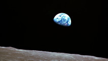Earth Rise Lunar Orbit 1989 HD Wallpaper