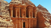 The Monastery Petra Jordan HD Wallpaper