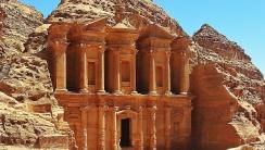 The Monastery Petra Jordan HD Wallpaper